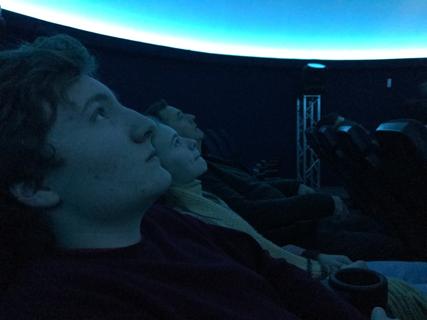 360-degree screen at the Stardome Planetarium and observatory