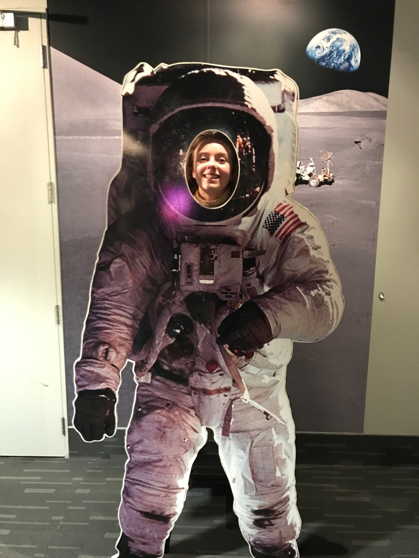 Teenagers will love the opportunity to take a selfie in a space suit!